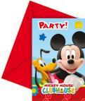 Pozvánky a obálky Mickey Mouse 6ks