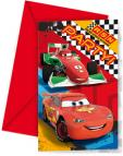 Pozvánky a obálky Cars 6ks