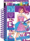 Style me up: Návrhářské portfolio s pastelkami