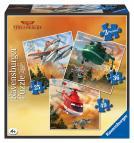 Ravensburger puzzle Disney Letadla - nebojácný tým 3 v 1 - 25, 36, 49 dílků