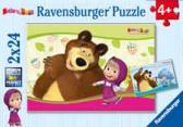 Dětské puzzle Máša a Medvěd 2x24 dílků