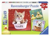 Ravensburger puzzle Roztomilá zvířátka 3x49 dílků
