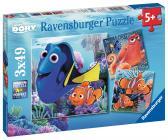 Ravensburger Disney Hledá se Dory 3x49 dílků