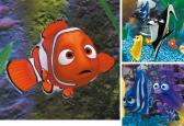 Dětské puzzle Ravensburger Disney Nemo v akváriu 3x49 dílků