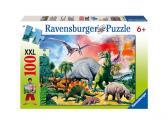 Ravensburger puzzle Mezi dinosaury 100 dílků