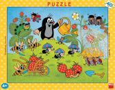 Dino puzzle Krtek v jahodách 40 dílků