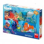 Dino puzzle Walt Disney  Dory a přátelé 4x54 dílků