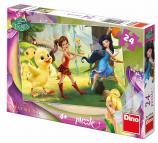 Dino puzzle Walt Disney Fairies a kuřátko 24 dílků