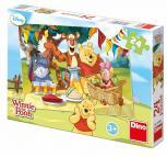 Dino puzzle Walt Disney Medvídek Pú na hostině 24 dílků