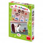 Dino puzzle Pohádky s pejsky 2x48 dílků