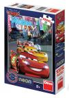 Dino puzzle Cars neon 100 dílků XL