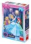 Dino puzzle Disney Princess Princezny neon 100 dílků XL