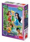 Dino puzzle Walt Disney Fairies neon 100 dílků XL