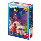 Dino puzzle Walt Disney Veselá Dory 100XL dílků neon