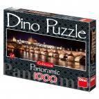 Dino puzzle Hradčany v noci 1000 dílků panorama