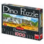Dino puzzle Vodopád Pongour 1000 dílků panoramic