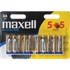 Alkalická baterie LR6 10BP   ALK  10x AA (R6)