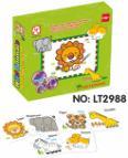 Vybarvovací puzzle - zvířátka