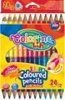 Trojhranné Jumbo pastelky 24 barev, 12 ks, Colorino Kids
