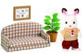 """Nábytek """"chocolate"""" králíků - taťka na pohovce"""