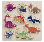 Woody Puzzle na desce - dinosauři, 9 dílků