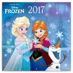 Poznámkový kalendář Frozen – Ledové království 2017, se samolepkami, 30 x 30 cm