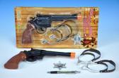 Pistole klapací 30cm s opaskem a odznakem na kartě