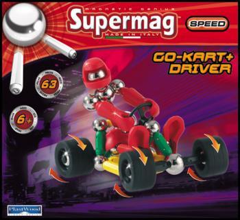 Supermag motokára a řidič 63 dílků