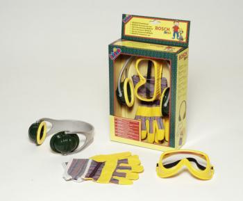 Bosch set - sluchátka,rukavice,ochané brýle Klein
