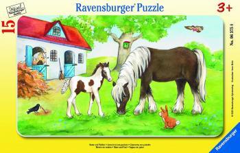 Ravensburger puzzle Klisna a hříbě 15 dílků rámové