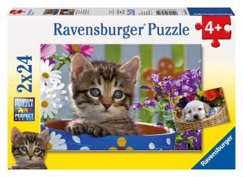 Ravensburger puzzle Roztomilí čtyřnozí přátelé 2x24 dílků