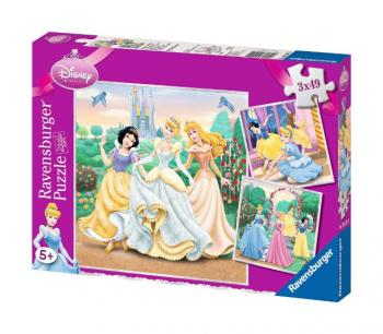 Ravensburger Puzzle Princezny 3 x 49 dílků