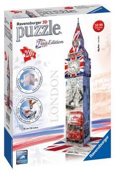 Ravensburger puzzle 3D Big Ben Vlajková edice 216 dílků