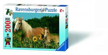Ravensburger puzzle Koně na louce 200 dílků