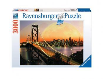 Ravensburger puzzle San Francisko v noci 3000 dílků