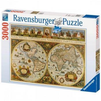 Ravensburger puzzle Historická mapa světa 1665 3000 dílků