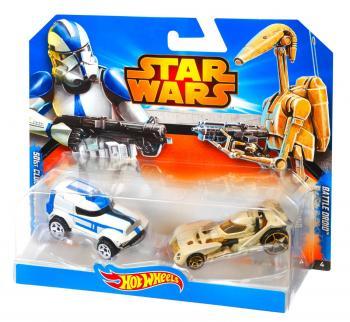 Hot Wheels Star wars 2ks autíčko, více druhů
