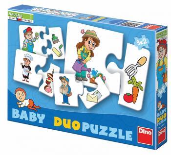 Dino baby puzzle profese 9x2 dílků