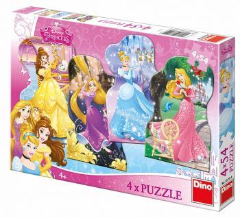 Dino puzzle Walt Disney Hravé princezny 4x54 dílků
