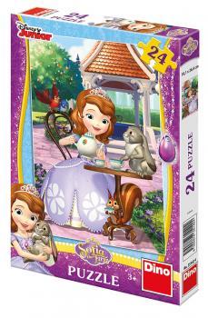 Dino puzzle Walt Disney Sofie a zvířátka 24 dílků