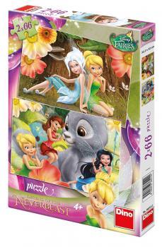 Dino puzzle Walt Disney  Fairies Zvonilka a tvor netvor 2x66 dílků