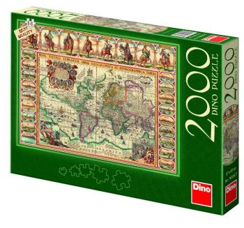Dino puzzle Historická mapa světa 2000 dílků