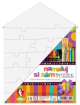 Efko Namaluj si sám puzzle domeček, 11 dílků