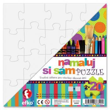 Efko Namaluj si sám puzzle 2 čtverce, 20 dílků