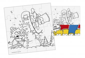 Puzzle The Simpsons Vymaluj si čtverec