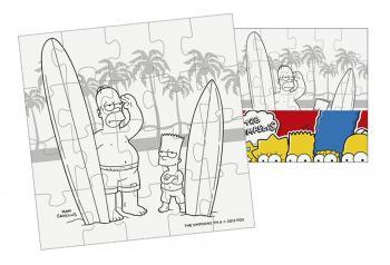 Efko Puzzle The Simpsons Vymaluj si malý čtverec