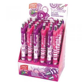 Pero kuličkové Venturio fialovo-růžové