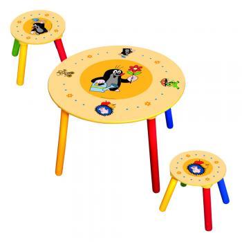 Dětský stolek s 2 židlemi Krtek