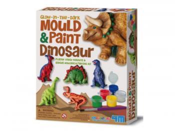 Sádrové Odlitky Svítící Dinosaurus