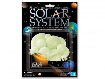 Svítící  3D sluneční soustava